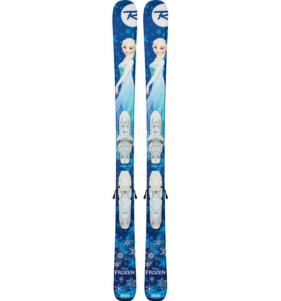 Rossignol Frozen Kid-X (RAGJC06)+Kid-X 4 B76 wht/silv(FCFK003) dětské lyže set